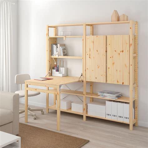 IVAR 2 módulo/almacenaje +mesa plegable, 175x179 cm   IKEA