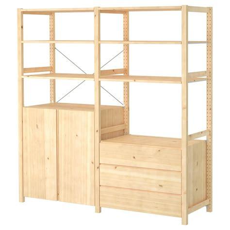 IVAR 2 section unit w/cabinet & chest   pine | Muebles ...