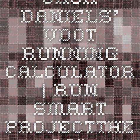 Jack Daniels' VDOT Running Calculator | Run SMART ...