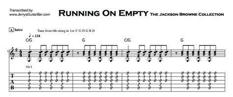 Jackson Browne   Running On Empty | Guitar Lesson, Tab ...