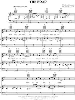 Jackson Browne  The Road  Sheet Music   Download & Print