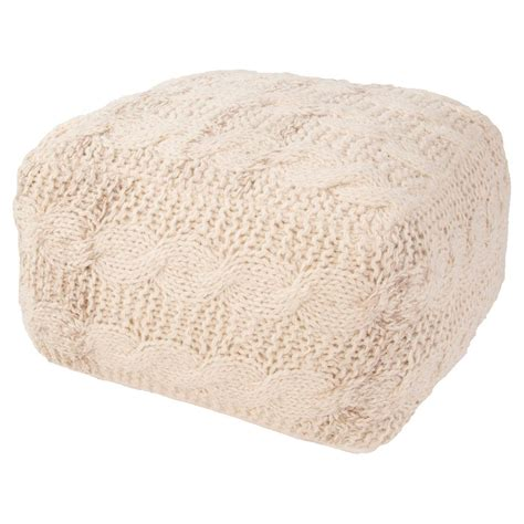 Jaipur Milford Handmade Wool Pouf   Walmart.com   Walmart.com