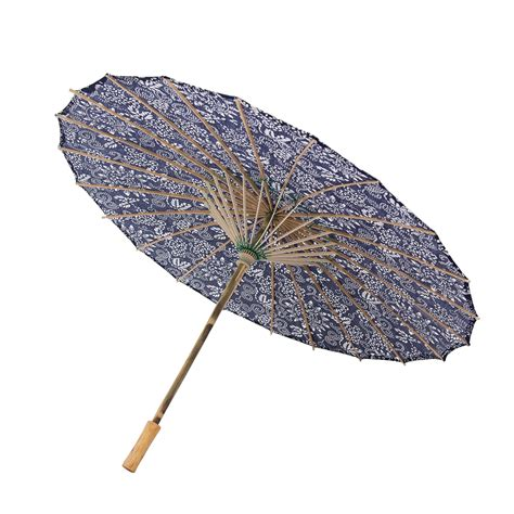 Japanese Chinese Asian Parasol Umbrella 33  Beautiful Blue ...
