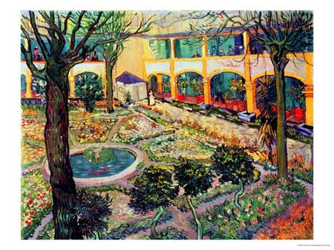 Jardín del hospital de Arles  de Vincent Van Gogh