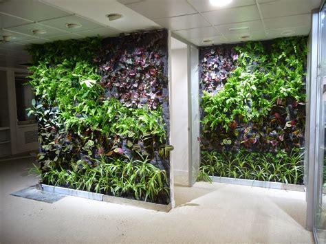 Jardín Vertical en oficina de Madrid  sistema F+P en interior