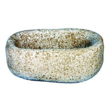 Jardinera Pila hormigón piedra exterior Rústica 40x23x14cm ...