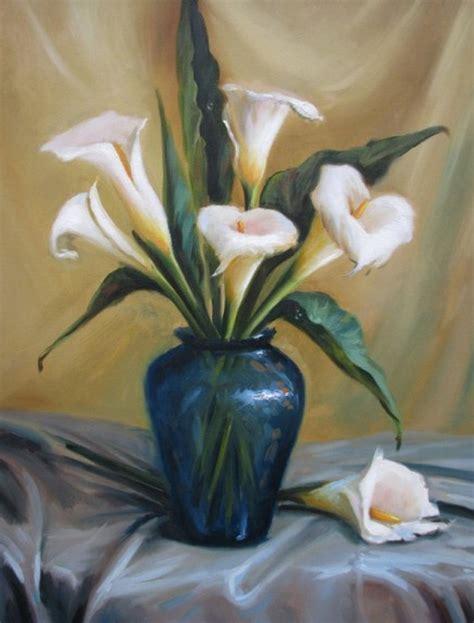 Jarrones con flores pintados al oleo   Imagui