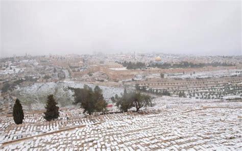 Jerusalén se encuentra cubierta de nieve, así también gran ...
