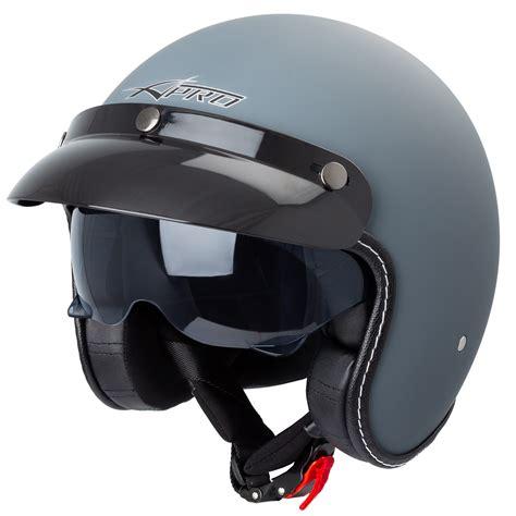 Jet Helmet Cafe Racer Open Face Motorbike SunVisor Custom ...