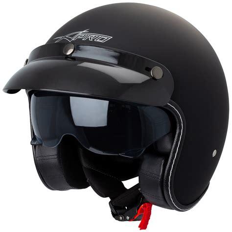 Jet Helmet Cafe Racer Open Face Motorcycle SunVisor Custom ...