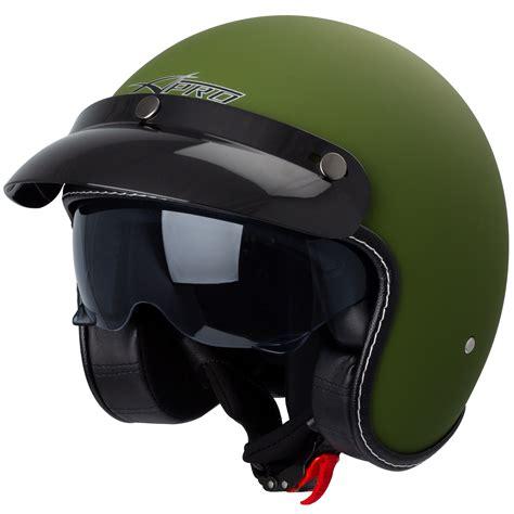 Jet Motorcycle Helmet Cafe Racer approved ECE 22 05 ...