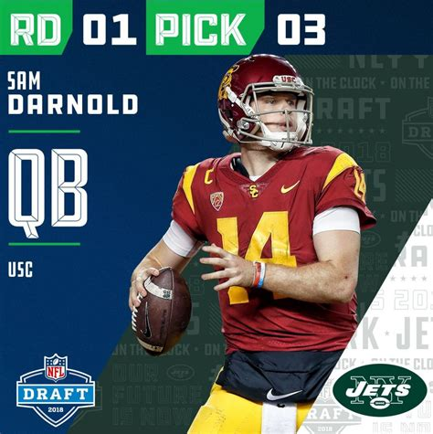 Jets Select USC QB Sam Darnold with Third Pick in 2018 NFL ...