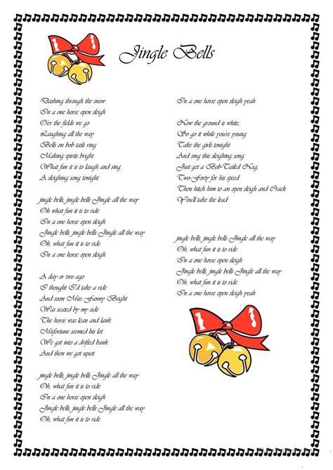 Jingle Bells   English ESL Worksheets for distance ...