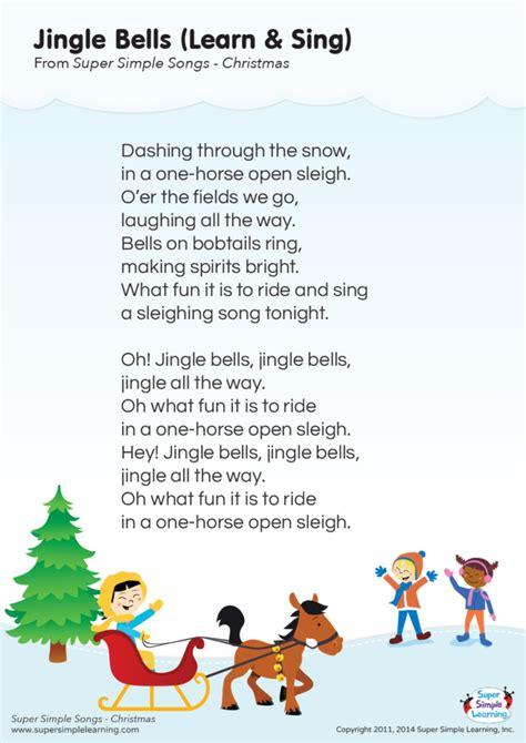Jingle Bells  Learn & Sing  Lyrics Poster   Super Simple