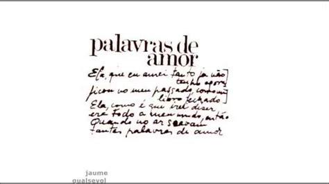 Joan Manuel Serrat   Palavras de amor  portugués    YouTube