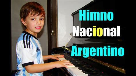 Joaquín  7  toca el Himno Nacional Argentino Piano ...