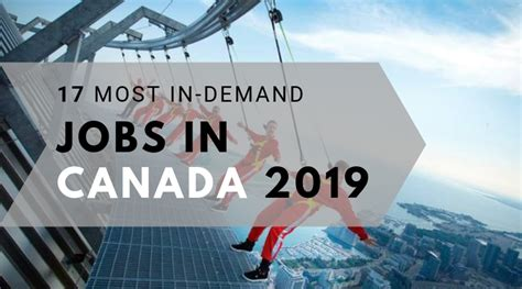 Jobs in Canada 2019