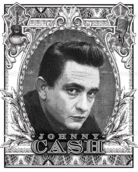 Johnny Cash Poster by Cantlebary