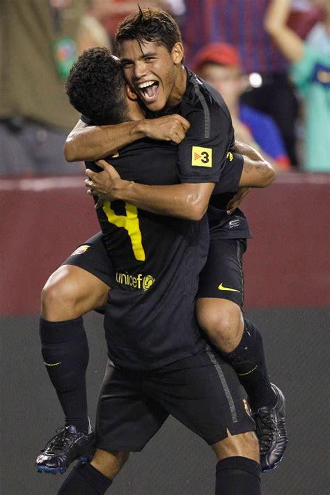 Jonathan Dos Santos Thiago Alcantara Photos   FC Barcelona ...