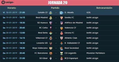 Jornada 20 Liga Santander 2019 | Partidos, Horarios y TV