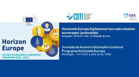Jornada de Avance Informativo sobre el Programa Horizonte ...
