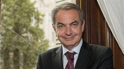José Luis Rodríguez Zapatero, expresidente del gobierno de ...