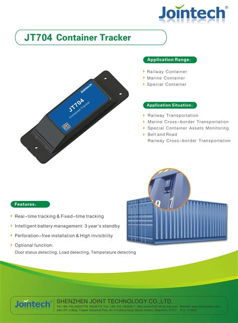 JT704 container GPS tracking device GPS container ...