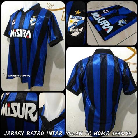 Jual Jersey Retro Inter Milan FC Home 1988 1989 Kualitas ...