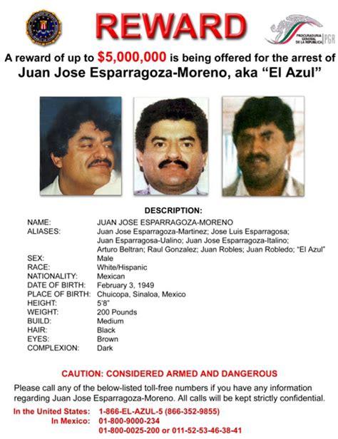 Juan Jose Esparragoza Moreno    Reward Poster
