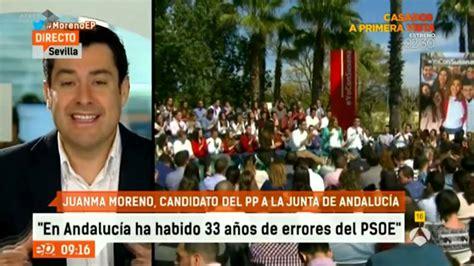 .@JuanMa_Moreno interviene en el programa  Espejo Público ...
