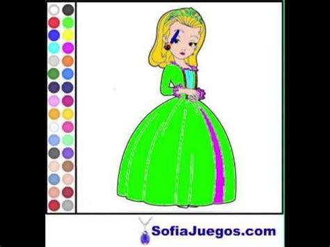 Juego: Colorear Princesa Amber Gratis Online   YouTube
