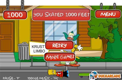 Juego de Bart Simpson con skaters   La cocina de Bender
