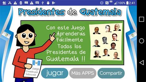 Juego Presidentes de Guatemala   Android Apps on Google Play