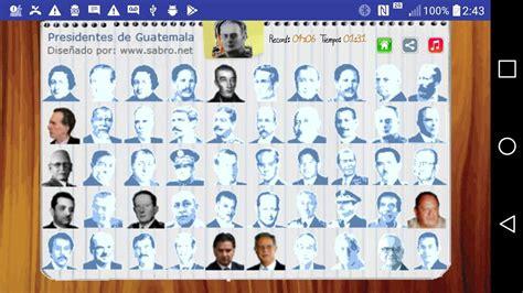 Juego Presidentes de Guatemala for Android   APK Download