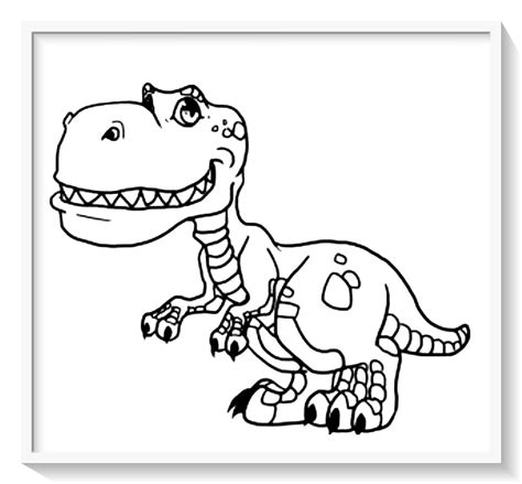 juegos pintar dinosaurios rex –  Dibujo imágenes