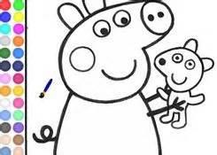 JuegosdePeppa.com   Juego: Colorear Peppa Pig Pintar ...
