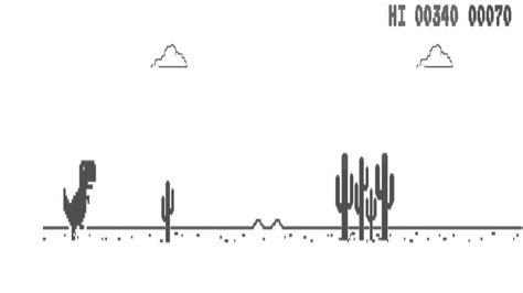 Jugando al Dinosaurio de google chrome   YouTube