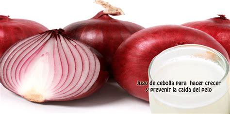 Jugo de cebolla para hacer crecer y prevenir la caída del ...