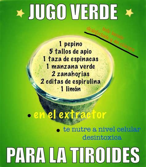 Jugo verde para la tiroides | Alimentos para ...