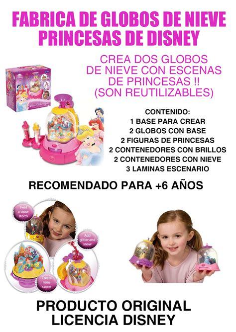 Juguetería León: FABRICA DE GLOBOS DE NIEVE PRINCESAS DE ...