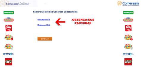 Juguetron Facturación Facturar Ticket   Descargar XML