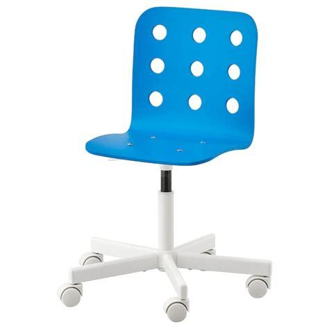 JULES Silla escritorio niño   azul, blanco   IKEA
