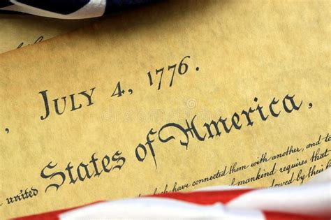 July 4th, 1776   United States Bill Of Rights Stock Image ...
