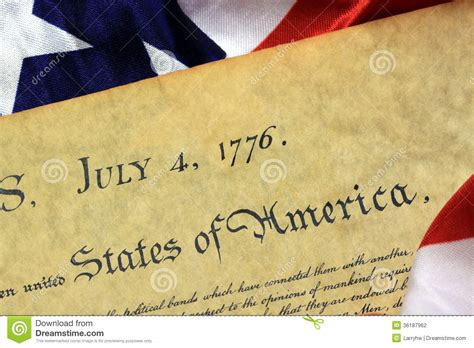 July 4th, 1776   United States Bill Of Rights Stock ...