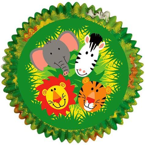 Jungle Animals Baking Cups | Creatividad, Magdalenas ...
