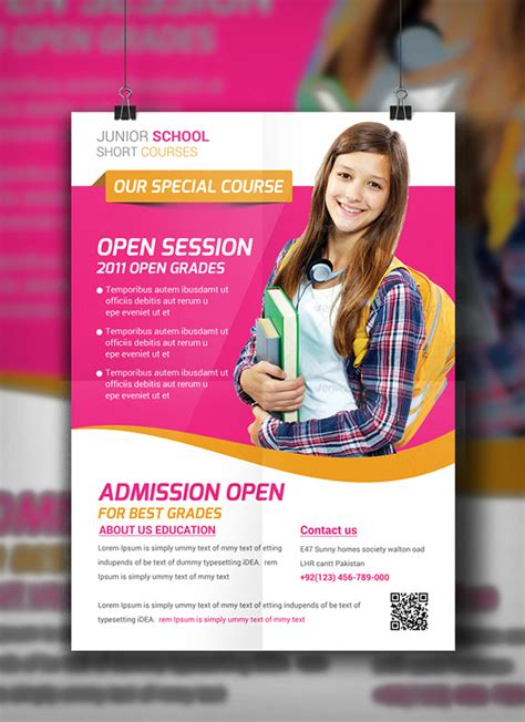 Juniour School Education Flyer Template on Behance
