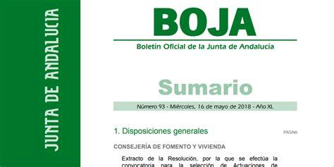 junta andalucia concede ayudas regeneracion urbana ...