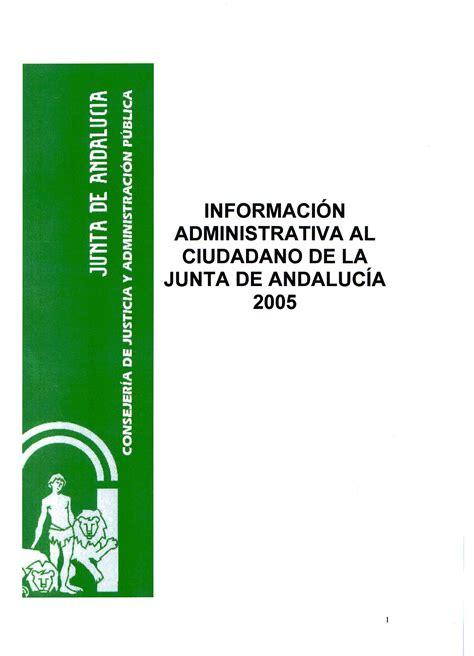 Junta de Andalucía   Información administrativa al ...
