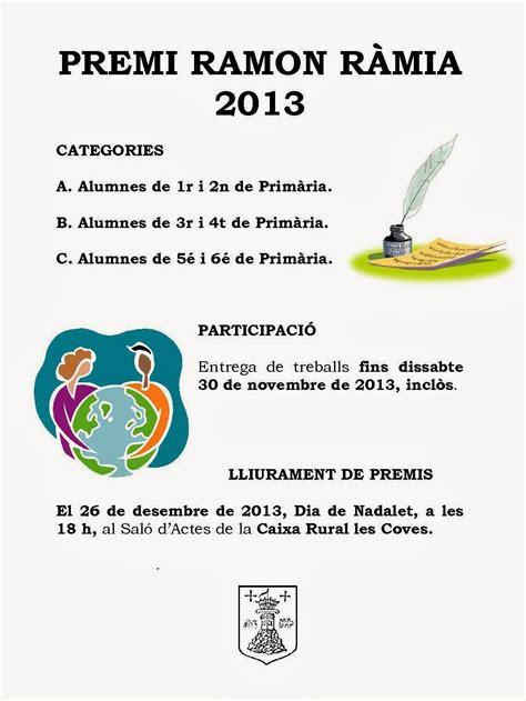 Junts pel Nostre Poble: CERTAMEN LITERARI RAMON RÀMIA 2013 ...