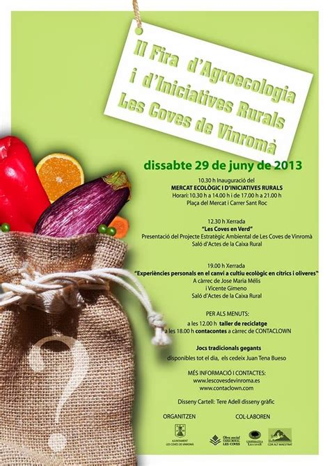 Junts pel Nostre Poble: II FIRA D AGROECOLOGIA I D ...